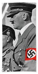 Adolf Hitler And Fellow Fascist Dictator Benito Mussolini October 26 1936 Number Three Color Added  Hand Towel