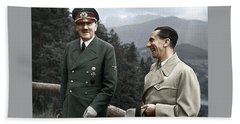 Adolf Hitler Joseph Goebbels Berghof Retreat  Number 2 Agfacolor Heinrich Hoffman Photo Circa 1942 Bath Towel