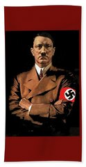 Adolf Hitler Painting Circa  1940 Color Added 2016 Bath Towel