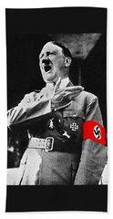 Adolf Hitler Ranting 1  Hand Towel by David Lee Guss
