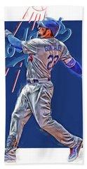Adrian Gonzalez Los Angeles Dodgers Oil Art Hand Towel