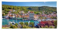 Adriatic Village Of Marina Near Trogir Bath Towel