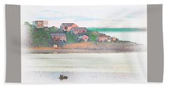 Adrift On The Bay At Sunset Hand Towel