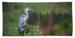 Advice From A Great Blue Heron Hand Towel