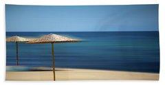 Aegean Sea Hand Towel by Milena Ilieva
