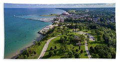 Aerial Of Port Washington Bath Towel