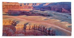aerial view of Colorado RIver canyon Bath Towel
