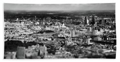 Aerial View Of London 6 Hand Towel by Mark Rogan
