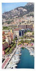 Aerial View Of Monaco Hand Towel