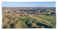 aerial view of Nebraska Sand Hills  Hand Towel