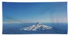 Aerial View Of Snowy Mountain Hand Towel