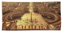 Aerial View Of St Peter's Square Bath Towel
