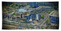 Aerial View Of The Walt Disney Concert Hall Bath Towel
