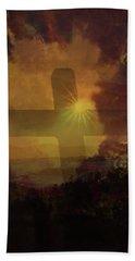 Aeris Cross Hand Towel by Kevin Blackburn