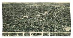 Aero View Of Ansonia, Connecticut Hand Towel