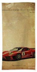 Aerodynamics Are For People Who Cant Build Engines. Enzo Ferrari Quote Hand Towel