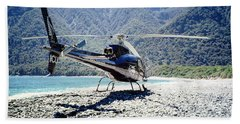 Aerospatiale Ecureuil 350, New Zealand Hand Towel by Wernher Krutein