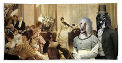 Afghan Hound-the Concert  Canvas Fine Art Print Hand Towel