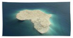 Africa Conceptual Island Design Bath Towel