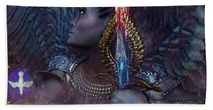 African Angel 6 Hand Towel by Suzanne Silvir