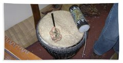 African Drum Bath Towel