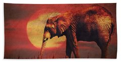 African Elephant Hand Towel