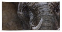 African Elephant Hand Towel
