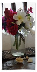 African Flowers And Shells Hand Towel