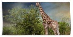 African Giraffe Hand Towel