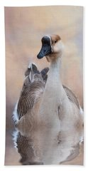 Hand Towel featuring the photograph African Goose by Robin-Lee Vieira
