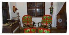 African Interior Design 5 Beaded Chairs Bath Towel