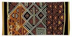 Hand Towel featuring the digital art African Kuba View From Earth by Vagabond Folk Art - Virginia Vivier