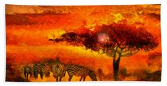 African Landscape Bath Towel by Caito Junqueira