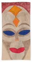 African Mask Hand Towel