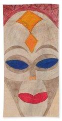 African Mask Bath Towel