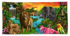 African Paradise Hand Towel by Gerald Newton