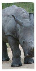 African Rhino Hand Towel