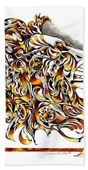 African Spirit Hand Towel by Sherry Shipley