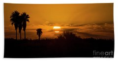 African Style Sunset Bath Towel