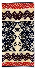 African Tribal Textile Design Bath Towel