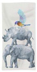 African Wildlife Bath Towel