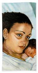 After Birth Jacina And Javon Bath Towel by Marlene Book