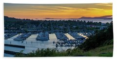 After Sunset At The Marina Bath Towel