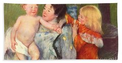After The Bath Hand Towel by Cassatt