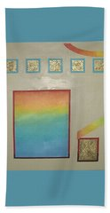 Bath Towel featuring the painting After The Rain by Bernard Goodman