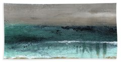 After The Storm 2- Abstract Beach Landscape By Linda Woods Hand Towel