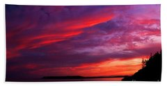 Hand Towel featuring the photograph After The Storm Sunset by Alana Ranney