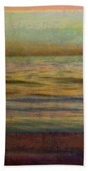 Bath Towel featuring the photograph After The Sunset - Teal Sky by Michelle Calkins