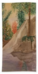 Afternoon At The Creek Bath Towel by Maria Urso