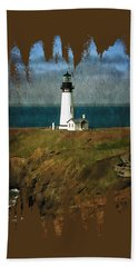 Afternoon At The Yaquina Head Lighthouse Bath Towel